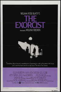 """The Exorcist (Warner Brothers, 1974). One Sheet (27"""" X 41""""). William Peter Blatty's novel is brought to the sc..."""