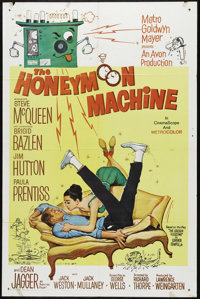 """The Honeymoon Machine (MGM, 1961). One Sheet (27"""" X 41""""). Steve McQueen has an early starring role in one of h..."""