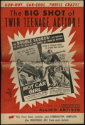 Movie Posters:Crime, Hot Car Girl/Cry Baby Killer combo (Allied Artists, 1958). Pressbook (Multiple Pages). This is a double feature pressbook fo...