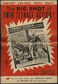 Hot Car Girl/Cry Baby Killer combo (Allied Artists, 1958). Pressbook (Multiple Pages). This is a double feature pressboo...