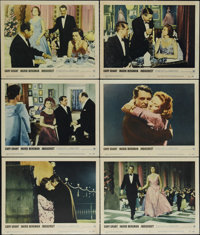 "Indiscreet (Warner Brothers, 1958). Lobby Cards (6) (11"" X 14""). ""How dare he make love to me and not be..."