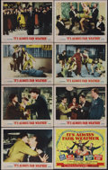 "It's Always Fair Weather (MGM, 1955). Lobby Card Set of 8 (11"" X 14""). Gene Kelly, Cyd Charisse and Dolores Gr..."