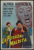 "Movie Posters:Hitchcock, Jamaica Inn (Paramount, R-1950s). Argentinian One Sheet (28"" X 43""). Charles Laughton stars in this Alfred Hitchcock adventu..."
