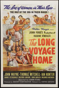 "Movie Posters:Science Fiction, The Long Voyage Home (United Artists, 1940). One Sheet (27"" X 41"").Beautiful poster art for John Ford classic film starring..."