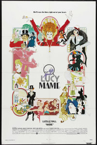 "Mame (Warner Brothers, 1974). One Sheet (27"" X 41""). Lucille Ball comes equipped with a large dose of joie de..."