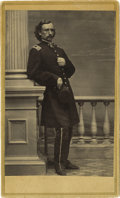 Military & Patriotic:Civil War, SIGNED GEORGE ARMSTRONG CUSTER CIVIL WAR PERIOD CARTE DE VISITE....