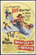 """Movie Posters:Comedy, Never Put It In Writing (Allied Artists, 1964). One Sheet (27"""" X 41""""). Long before """"Road Trip,"""" Pat Boone had done the """"retr..."""