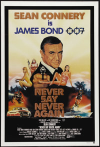 """Never Say Never Again (Warner Brothers, 1983). Australian One Sheet (27"""" X 40""""). This Bond film was directed b..."""