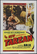"""Movie Posters:Serial, The New Adventures of Tarzan (Burroughs-Tarzan-Enterprise, 1935). One Sheet (27"""" X 41"""") and Pressbook (Multiple Pages). Auth... (Total: 2 Items)"""