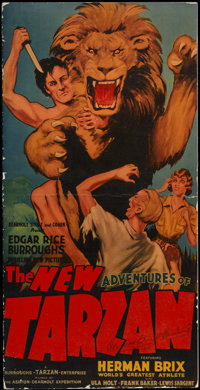 The New Adventures of Tarzan (Burroughs-Tarzan-Enterprise, 1935). Pressbook (Multiple Pages). This is the serial version...