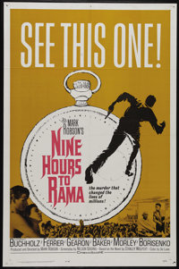 """Nine Hours to Rama (20th Century Fox, 1963). One Sheet (27"""" X 41""""). Horst Buchholz stars as the assassin of In..."""
