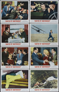 "North by Northwest (MGM, R-1966). Lobby Card Set of 8 (11"" X 14""). This is master of suspense Alfred Hitchcock..."