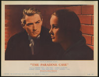 """The Paradine Case (Selznick Releasing Organization, Inc., R-1956). Lobby Cards (4) (11"""" X 14""""). Gregory Peck..."""