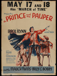 """The Prince and the Pauper (Warner Brothers - First National, 1937). Window Card (14"""" X 19""""). This film is base..."""