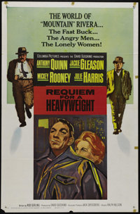 """Requiem for a Heavyweight (Columbia, 1962). One Sheet (27"""" X 41""""). Anthony Quinn is Mountain Rivera, a boxer a..."""