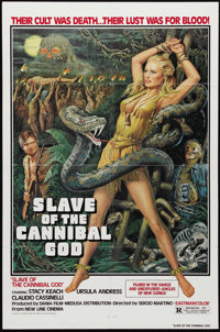 """Slave of the Cannibal God (New Line, 1979). One Sheet (27"""" X 41""""). Ursula Andress stars with Stacy Keach in th..."""