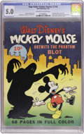 Golden Age (1938-1955):Cartoon Character, Four Color (Series One) #16 Mickey Mouse (Dell, 1941) CGC VG/FN 5.0Off-white to white pages....