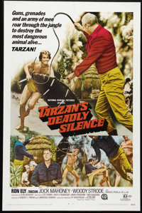 """Tarzan's Deadly Silence (National General, 1970). One Sheet (27"""" X 41""""). Ron Ely stars as Tarzan in this film..."""