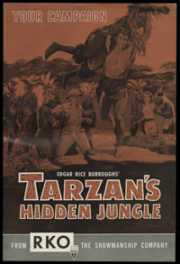 Tarzan's Hidden Jungle (RKO, 1955). Pressbook (Multiple Pages). Gordon Scott takes over the role of Tarzan in this actio...