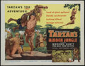 "Movie Posters:Adventure, Tarzan's Hidden Jungle (RKO, 1955). Half Sheet (22"" X 28"") Style B.Nice artwork highlights this beautiful RKO style B half ..."