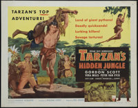 "Tarzan's Hidden Jungle (RKO, 1955). Half Sheet (22"" X 28"") Style B. Nice artwork highlights this beautiful RKO..."