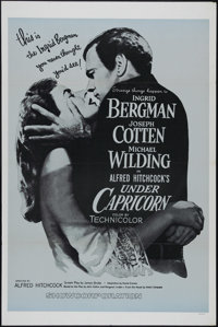 """Under Capricorn (Warner Brothers, R-1960s). One Sheet (27"""" X 41""""). This rare costume drama by Alfred Hitchcock..."""
