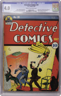 Golden Age (1938-1955):Superhero, Detective Comics #39 (DC, 1940) CGC VG 4.0 Cream to off-white pages....