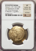 Ancients:Byzantine, Ancients: BYZANTINE EMPIRE. Manuel I (1143-1180). AV hyperpyron (4.28 gm)....