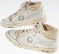 Basketball Collectibles:Others, Gerald Henderson Game Worn, Signed Boston Celtics Sneakers....