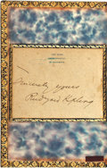 Books:Literature Pre-1900, [Featured Lot]. Rudyard Kipling. INSCRIBED. Many Inventions.London: Macmillan and Co., 1893....