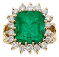 Estate Jewelry:Rings, Colombian Emerald, Diamond, Gold Ring. ...