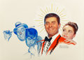 Paintings, Norman Rockwell (American, 1894-1978). Cinderfella promotional art, 1960. Oil and pencil on canvas. 17 x 23 inches (43.2...