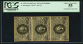 Fractional Currency:Second Issue, Fr. 1246 10¢ Second Issue Vertical Strip of Three PCGS Choice About New 55.. ...