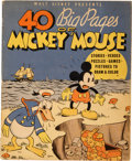 Platinum Age (1897-1937):Miscellaneous, 40 Big Pages of Mickey Mouse #945 (Whitman, 1936) Condition:VG+....