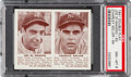 Baseball Cards:Singles (1940-1949), 1941 Double Play DiMaggio/Keller #63/64 PSA NM-MT 8. ...