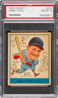 Baseball Cards:Singles (1930-1939), 1938 Goudey Jimmy Foxx #273 PSA NM-MT 8 - Only One Higher. ...