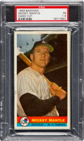Baseball Cards:Singles (1950-1959), 1959 Bazooka Mickey Mantle, Hand Cut PSA Fair 1.5....