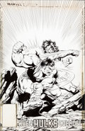 Original Comic Art:Miscellaneous, Steve Geiger and Bob McLeod Incredible Hulk #326 PhotostatCover Production Art (Marvel, 1986)....