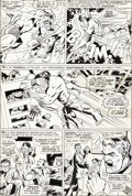 Original Comic Art:Panel Pages, Marie Severin, Dan Adkins, and Roger Brand Tales to Astonish #100 Story Page 16 Sub-Mariner and Hulk Original Art ...