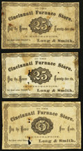 Obsoletes By State:Ohio, (Cincinnati, OH)- Cincinnati Furnace Store/Long & Smith 5¢; 25¢(2) 1870. ... (Total: 3 notes)