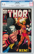 Silver Age (1956-1969):Superhero, Thor #165 (Marvel, 1969) CGC NM+ 9.6 Off-white to white pages....
