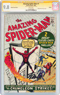 Silver Age (1956-1969):Superhero, The Amazing Spider-Man #1 Golden Record Reprint - Signature Series(Marvel, 1966) CGC NM/MT 9.8 White pages....