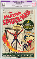 Silver Age (1956-1969):Superhero, The Amazing Spider-Man #1 (Marvel, 1963) CGC Apparent VF 8.0Moderate (P) Cream to off-white pages....
