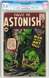 Tales to Astonish #27 (Marvel, 1962) CGC VF- 7.5 Cream to off-white pages