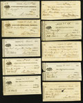 Obsoletes By State:Ohio, Cincinnati, OH- Office, Bank United States Checks VariousDenominations 1830-35 Ten Examples. ... (Total: 10 items)