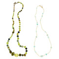 Estate Jewelry:Necklaces, Peridot, Tourmaline, Seed Pearl, Gold, Sterling Silver Necklaces. ... (Total: 2 Items)
