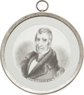 Political:Tokens & Medals, William Henry Harrison: Gorgeous Pewter Rim Mirror....