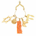 Estate Jewelry:Other , Coral, Gold Charms. ...