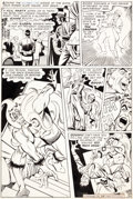 Original Comic Art:Panel Pages, Steve Ditko Beware the Creeper #2 Story Page 6 Original Art(DC, 1968)....
