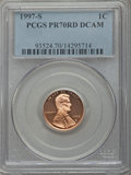 Proof Lincoln Cents, 1997-S 1C PR70 Red Deep Cameo PCGS. PCGS Population (211). NGC Census: (91). Numismedia Wsl. Price for problem free NGC/PC...